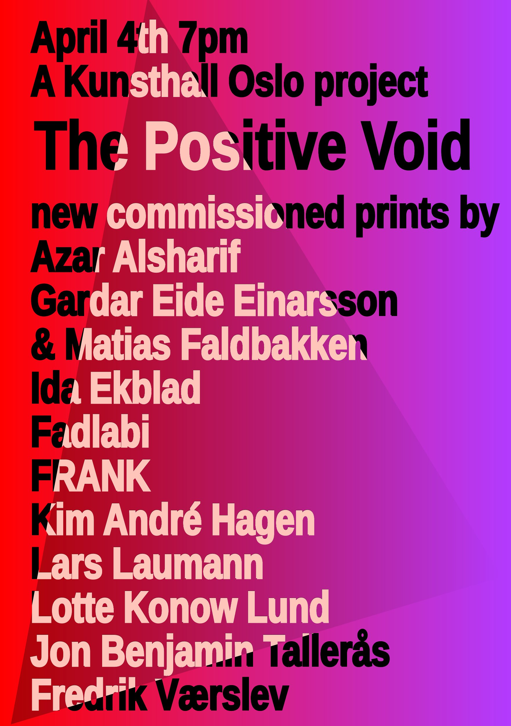 The Positive Void flyer image